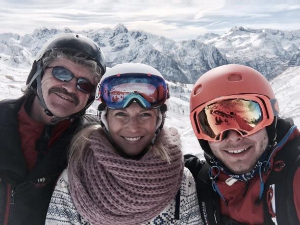 family-on-mountain