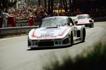 Porsche Type 935 K3 in Le Mans 1979. Drivers: Bill Whittington, Klaus Ludwig and Don Whittington, overall winners